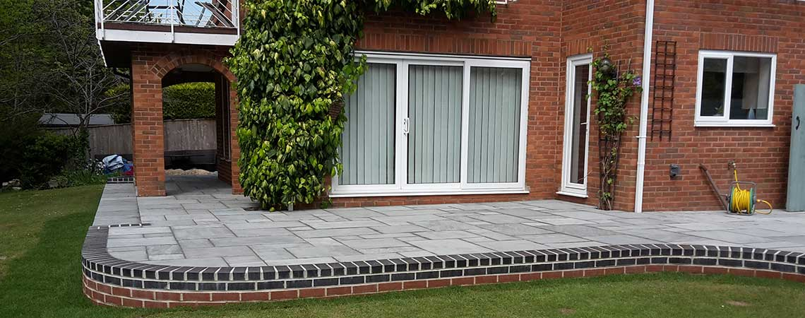 patios and garden landscaping Ferndown, Dorset